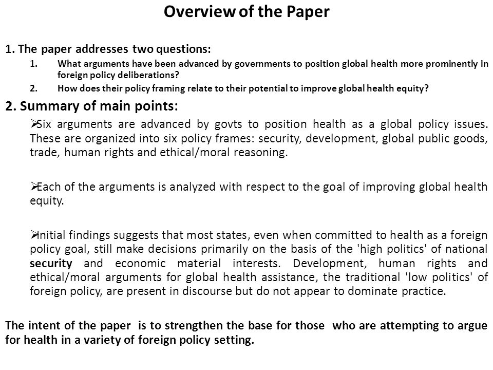 Lessons for Global Health Diplomacy Based on Directed Reading ...