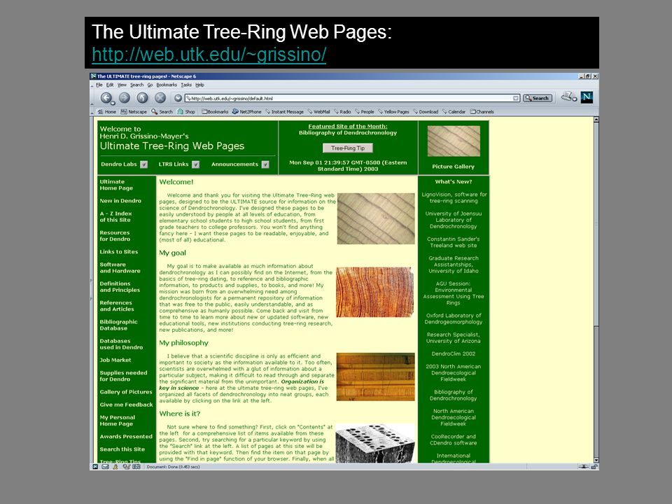 The Ultimate Tree-Ring Web Pages: http://web.utk.edu/~grissino/