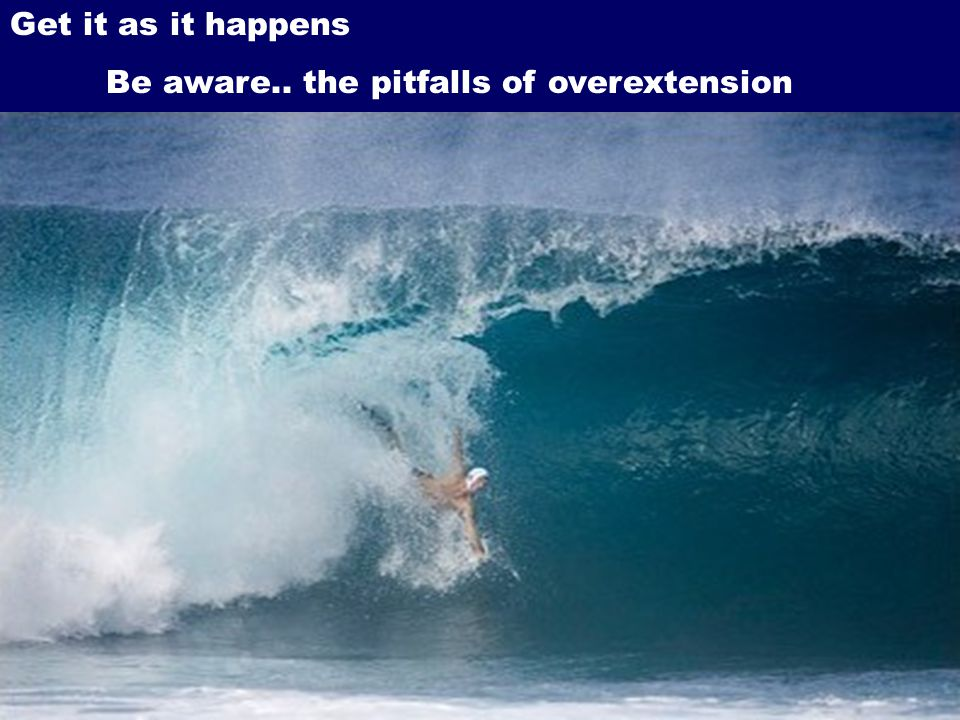 Get it as it happens Be aware.. the pitfalls of overextension