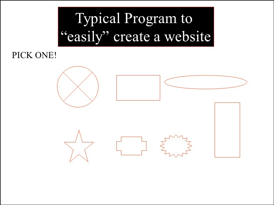 8 16 Typical Program to easily create a website PICK ONE!