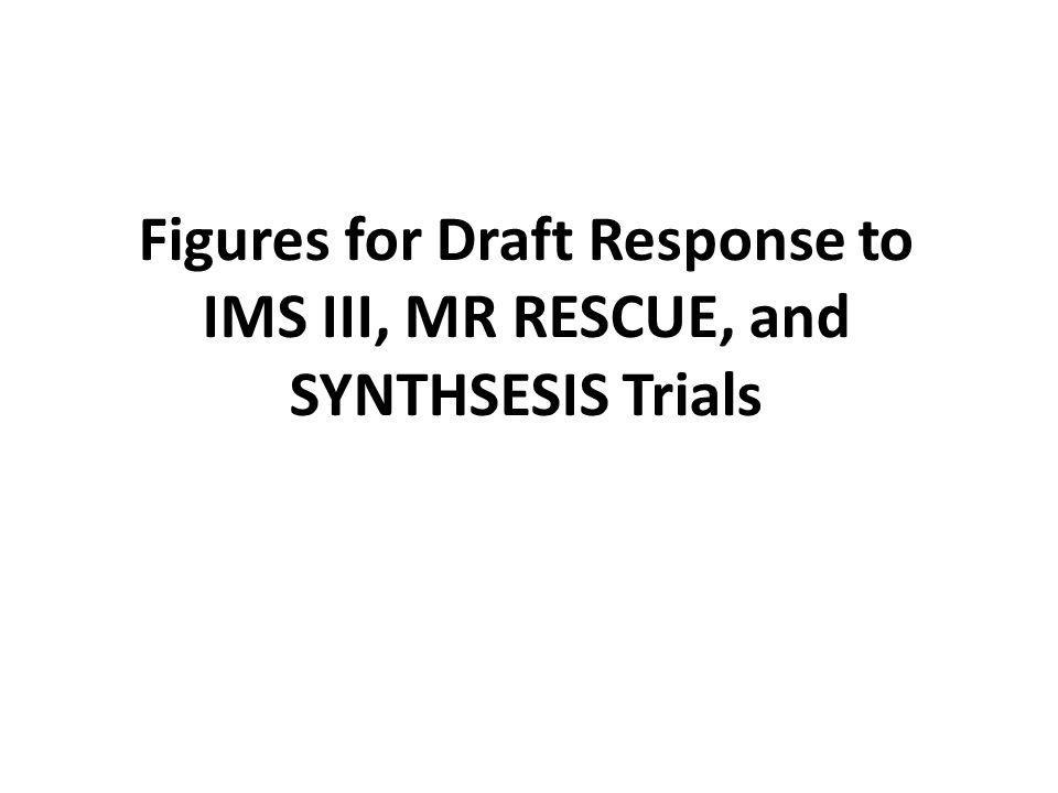 Figures for Draft Response to IMS III, MR RESCUE, and SYNTHSESIS Trials