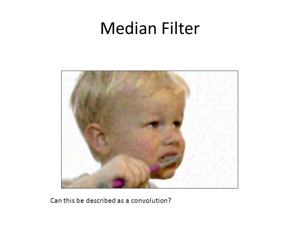 Median Filter Can this be described as a convolution