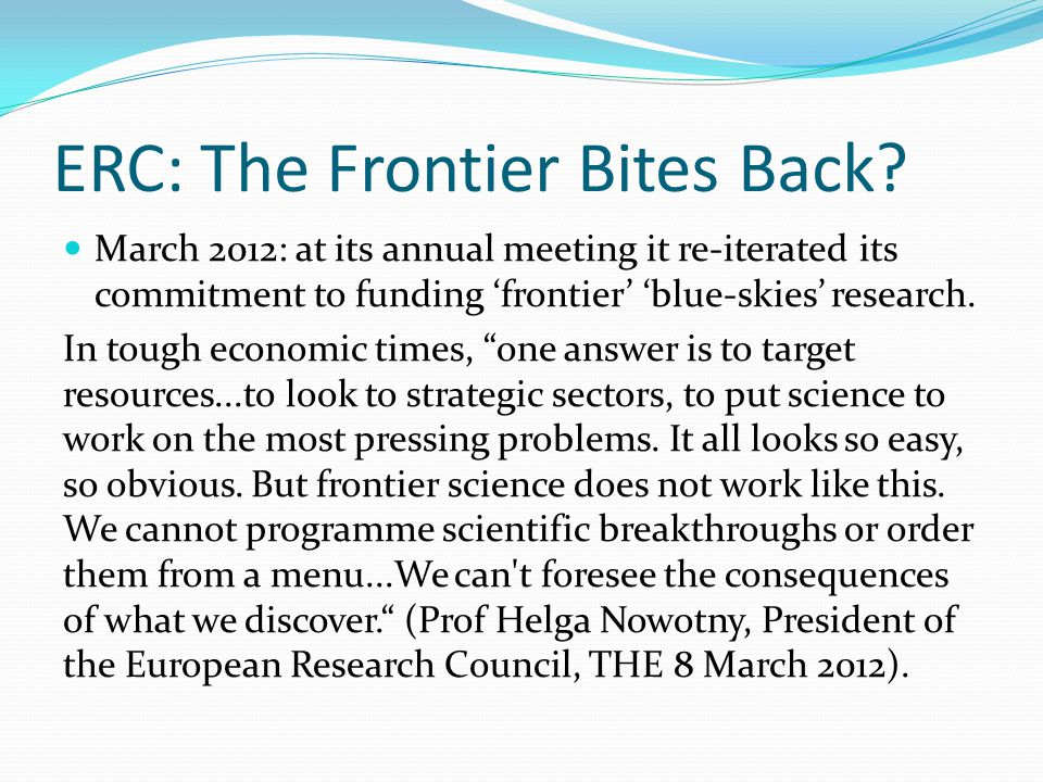 ERC: The Frontier Bites Back.