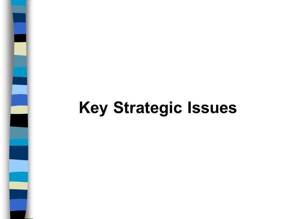 Key Strategic Issues