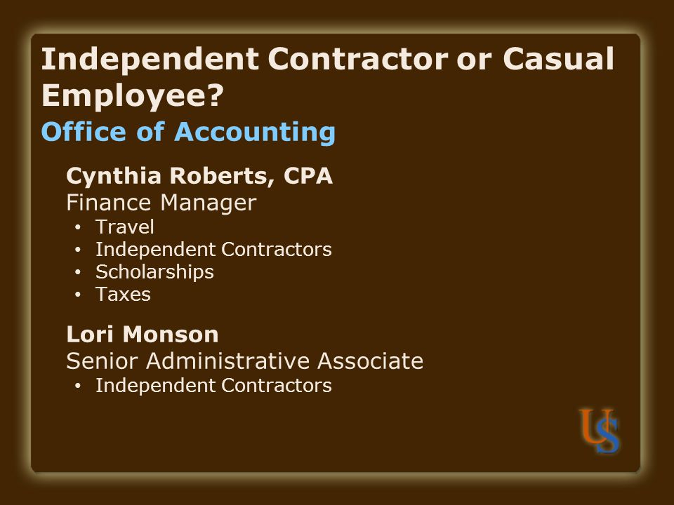 independent contractor or casual employee how to complete the