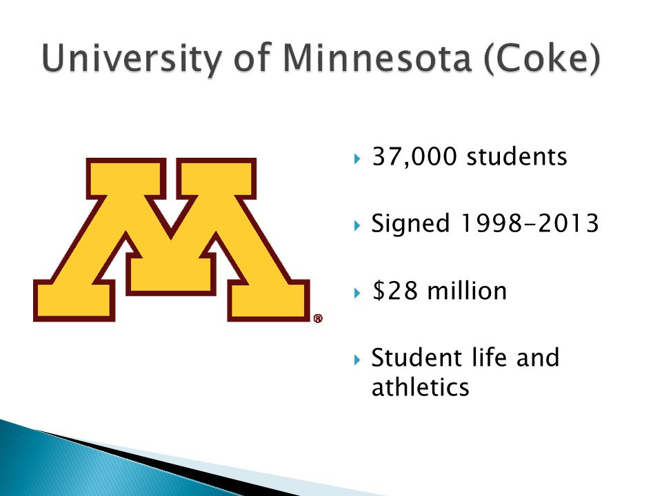  37,000 students  Signed 1998-2013  $28 million  Student life and athletics