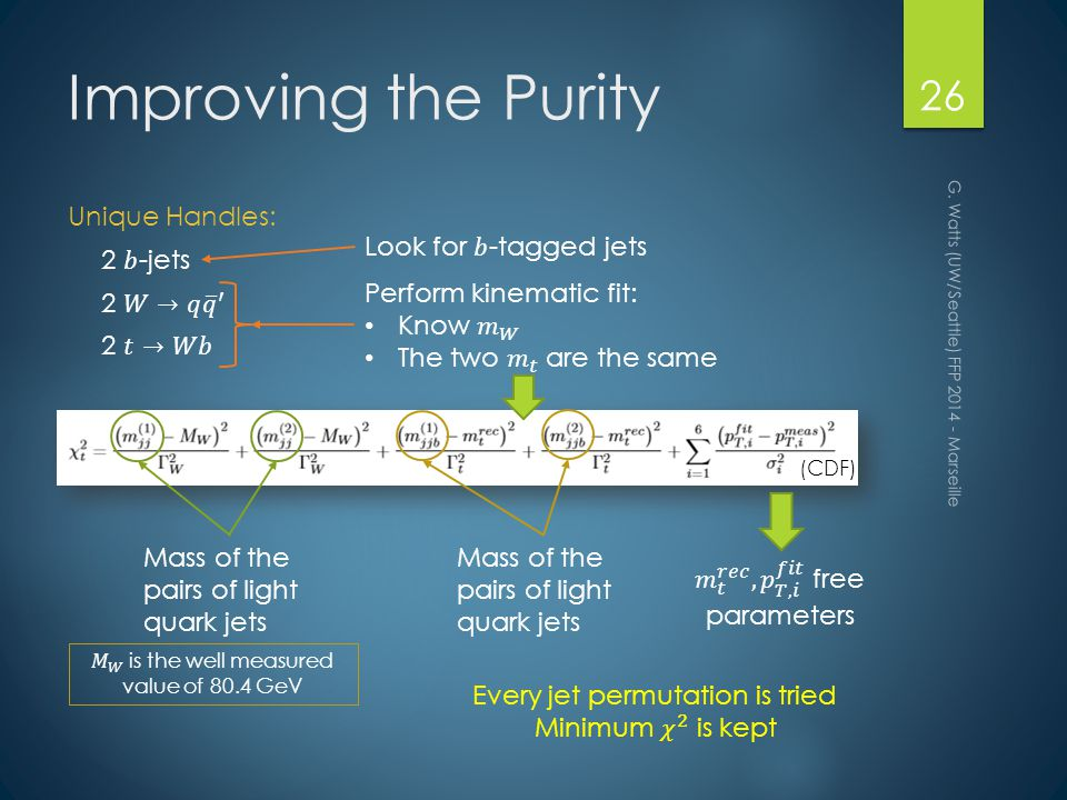 Improving the Purity G.