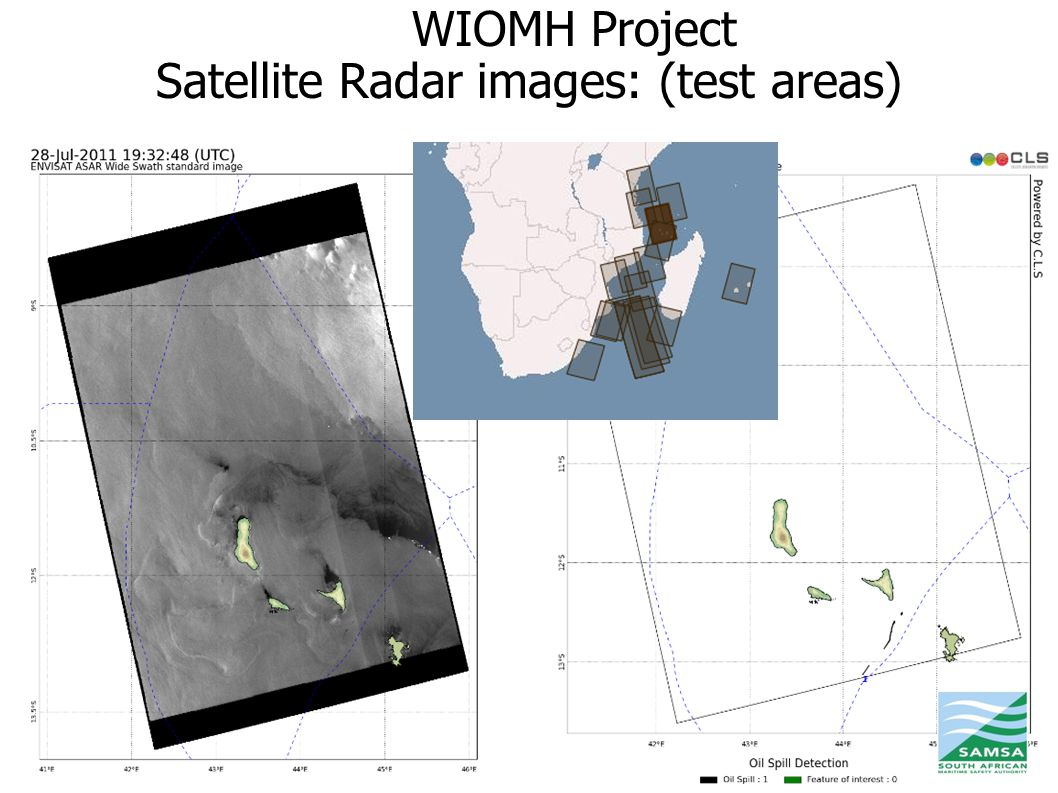 WIOMH Project Satellite Radar images: (test areas) 18