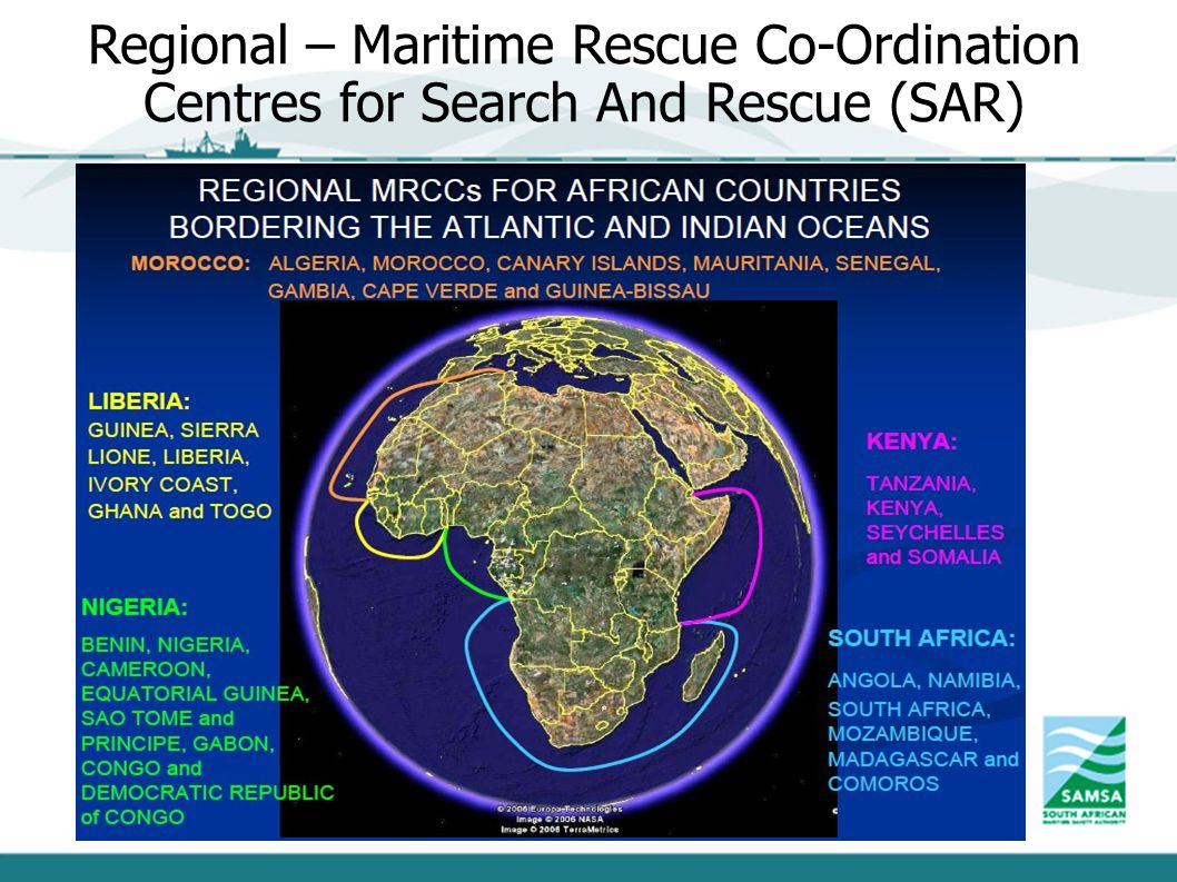 Regional – Maritime Rescue Co-Ordination Centres for Search And Rescue (SAR)