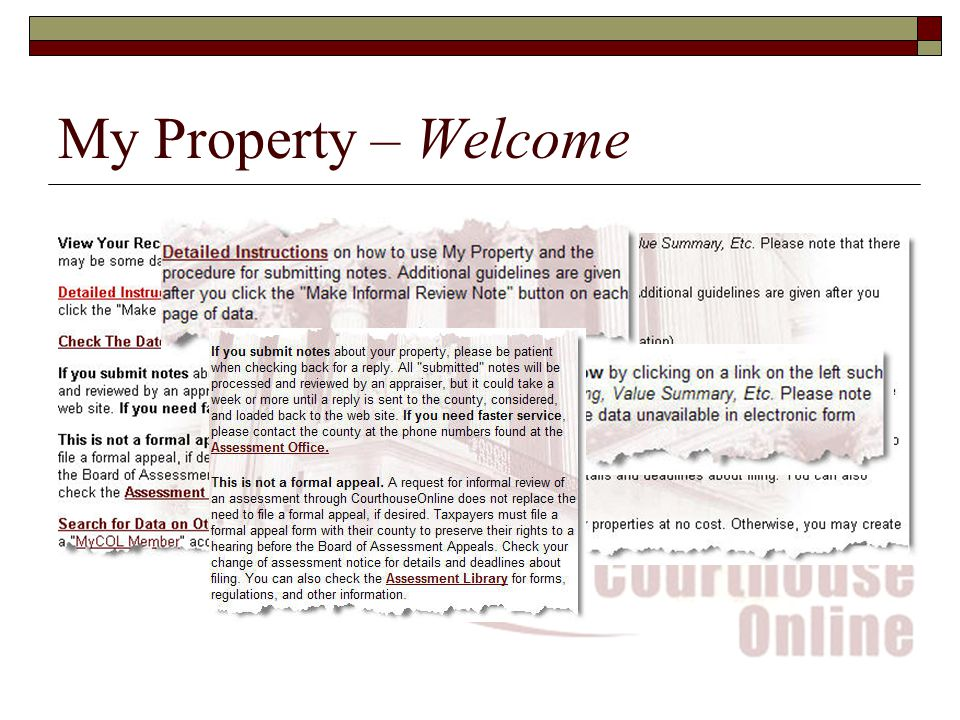 My Property – Welcome