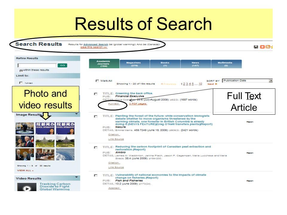 Results of Search Full Text Article Photo and video results