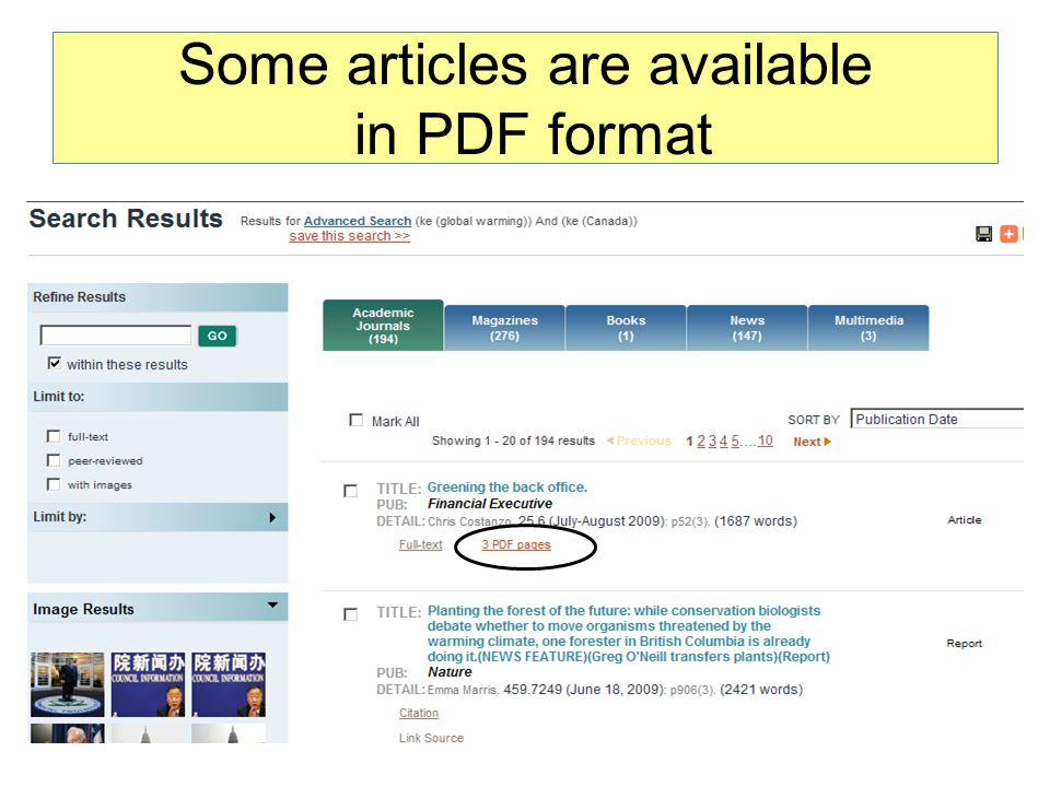 Some articles are available in PDF format