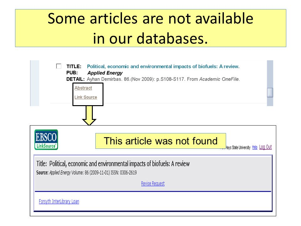 Some articles are not available in our databases. This article was not found