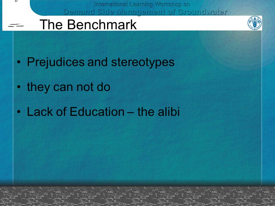 The Benchmark Prejudices and stereotypes they can not do Lack of Education – the alibi