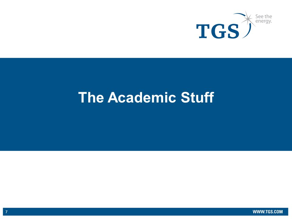 7 The Academic Stuff