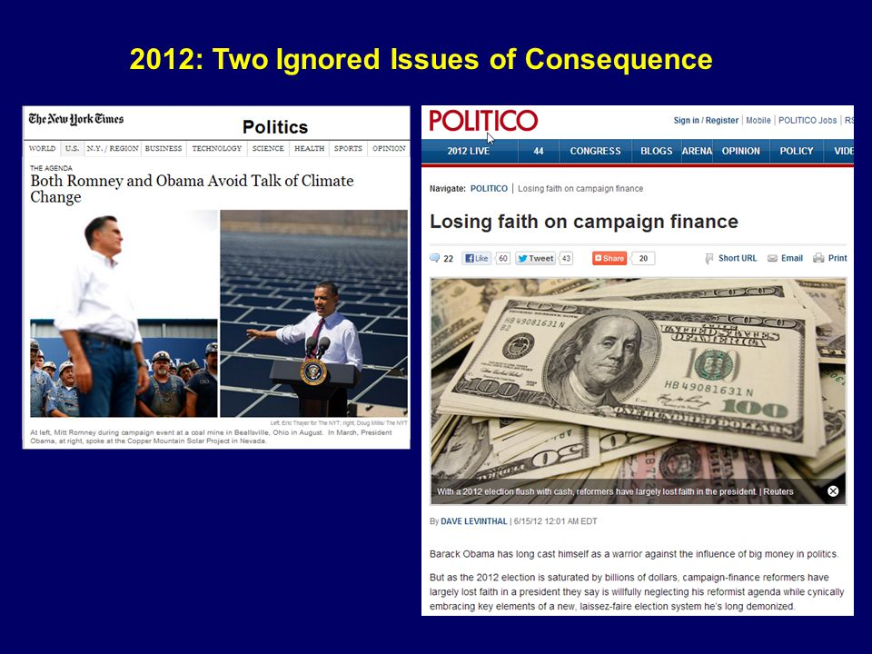 2012: Two Ignored Issues of Consequence