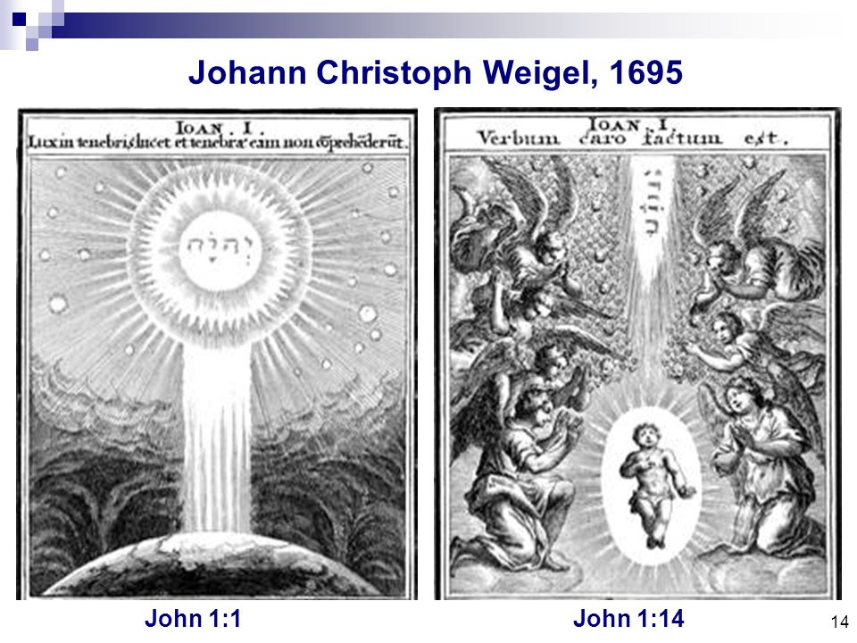 14 Johann Christoph Weigel, 1695 John 1:1John 1:14