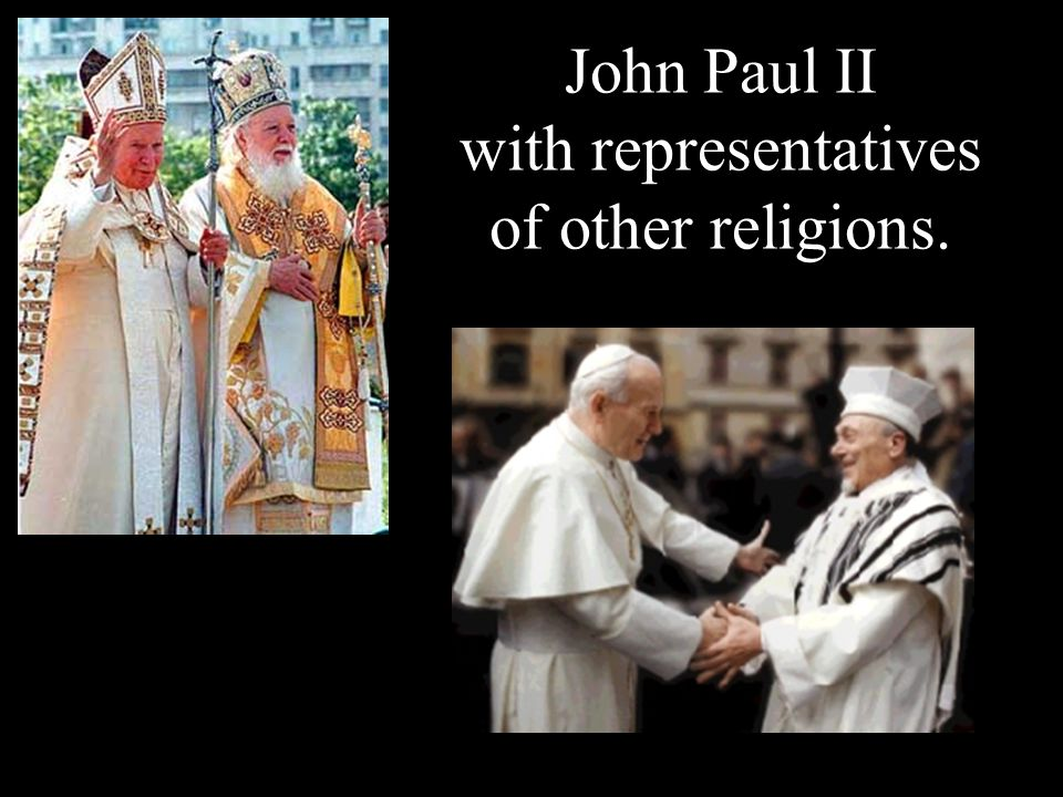 John Paul II with representatives of other religions.