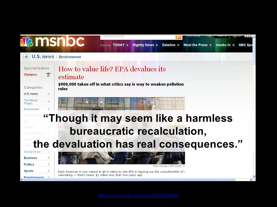 10 July 2008 http://www.msnbc.msn.com/id/25626294/ Though it may seem like a harmless bureaucratic recalculation, the devaluation has real consequences.