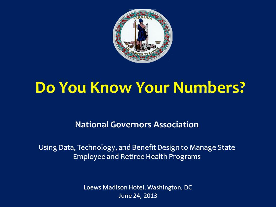Do You Know Your Numbers.
