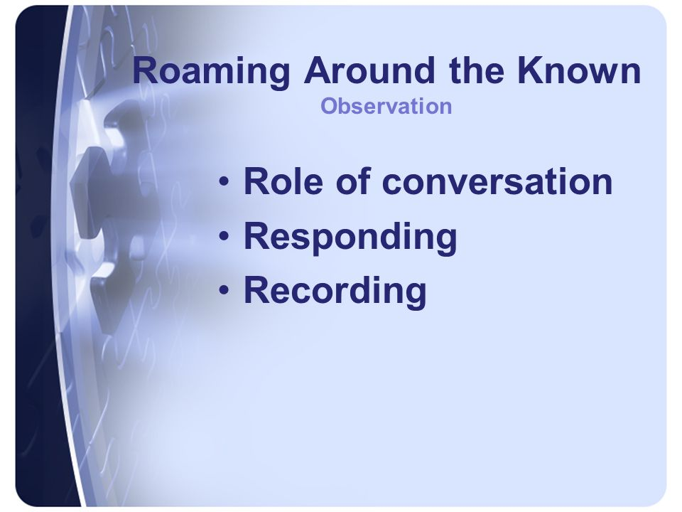 Roaming Around the Known Observation Role of conversation Responding Recording
