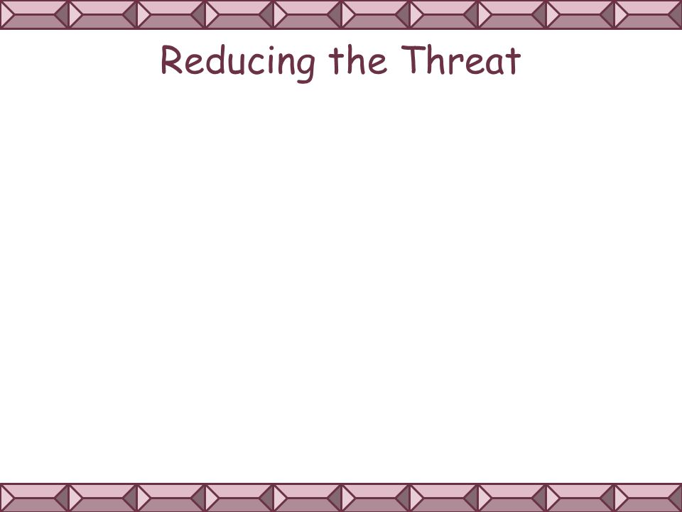 Reducing the Threat