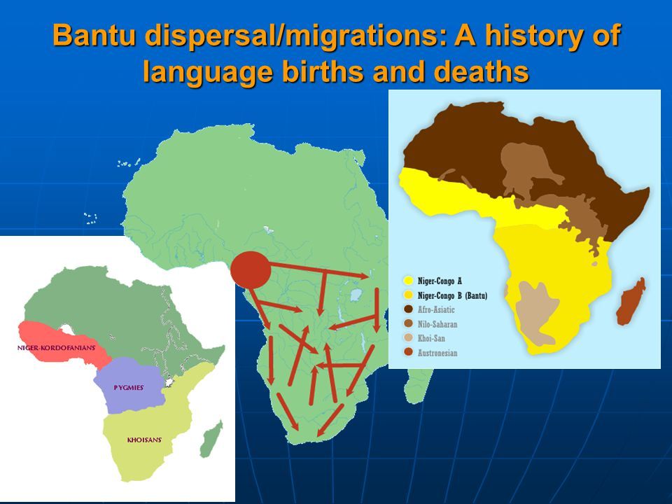 Bantu dispersal/migrations: A history of language births and deaths