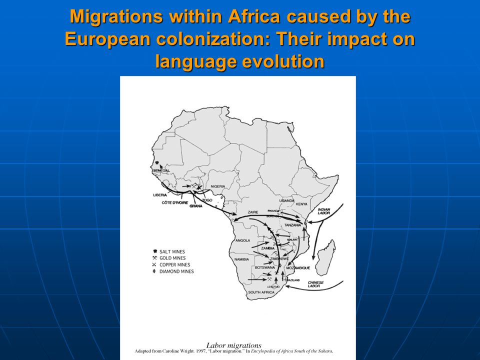 Migrations within Africa caused by the European colonization: Their impact on language evolution