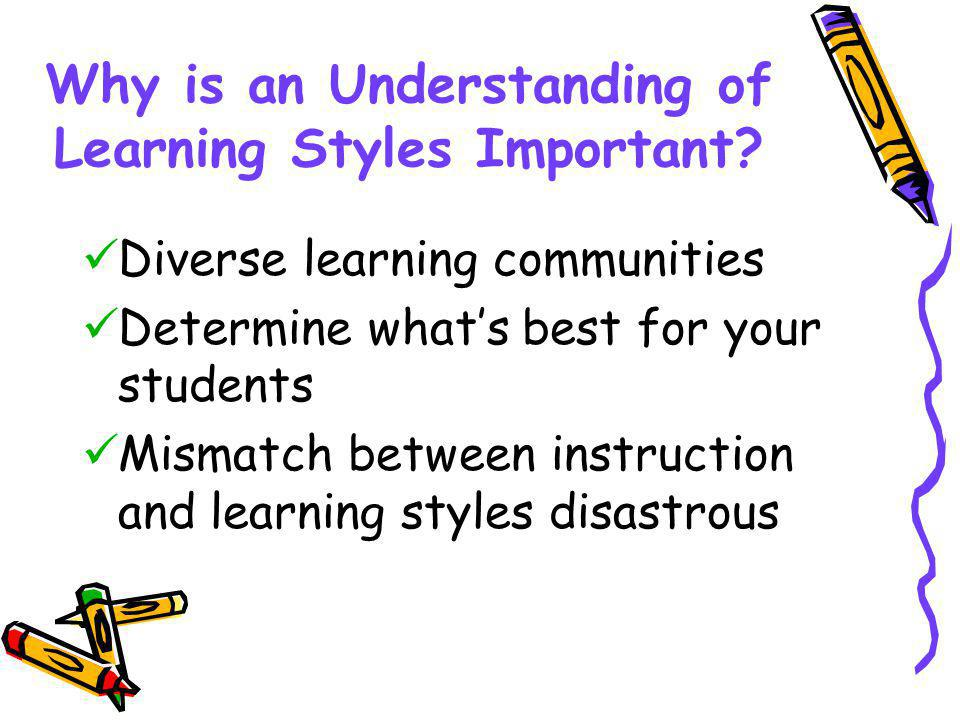 Why is an Understanding of Learning Styles Important.