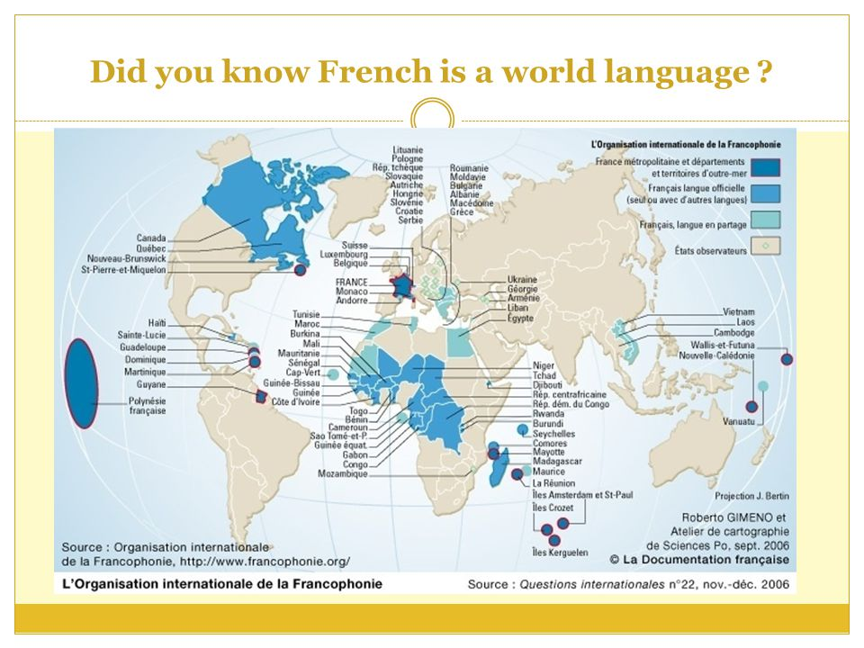 Did you know French is a world language
