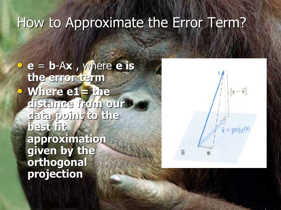 How to Approximate the Error Term.