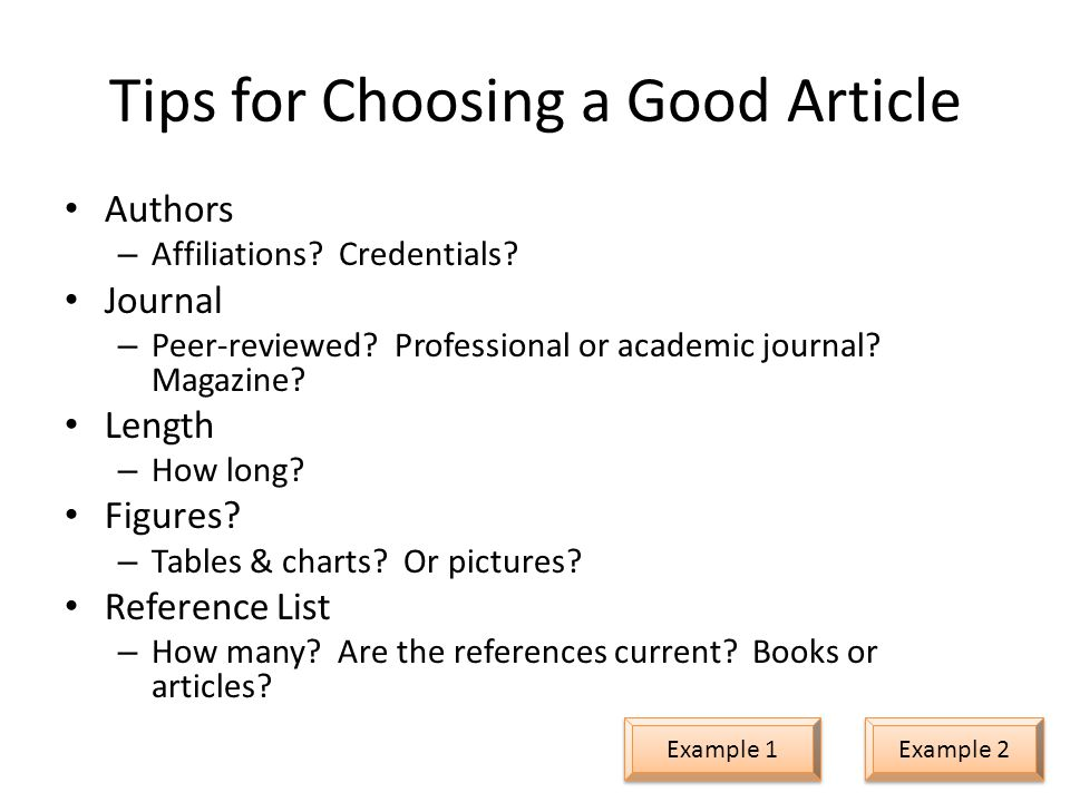 Tips for Choosing a Good Article Authors – Affiliations.