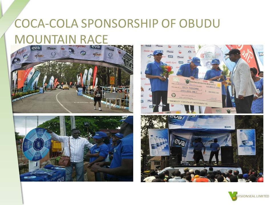 COCA-COLA SPONSORSHIP OF OBUDU MOUNTAIN RACE VISIONSEAL LIMITED