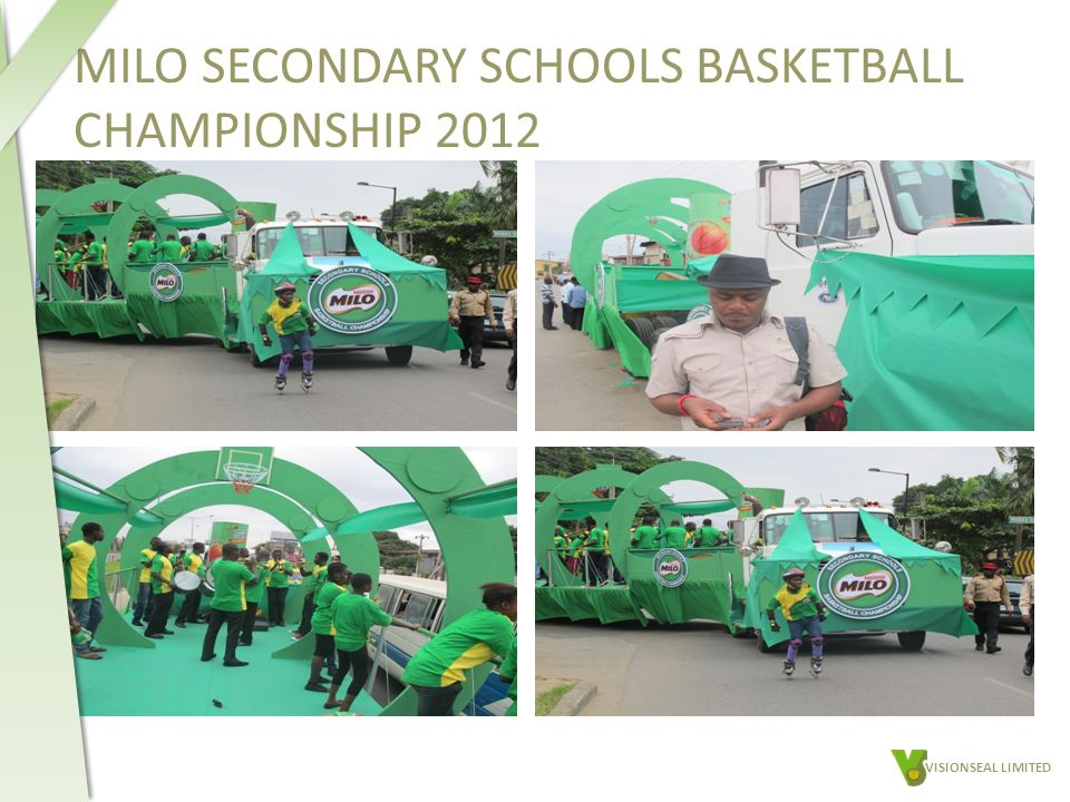 MILO SECONDARY SCHOOLS BASKETBALL CHAMPIONSHIP 2012 VISIONSEAL LIMITED