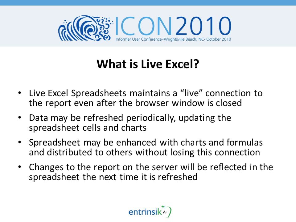 What is Live Excel.