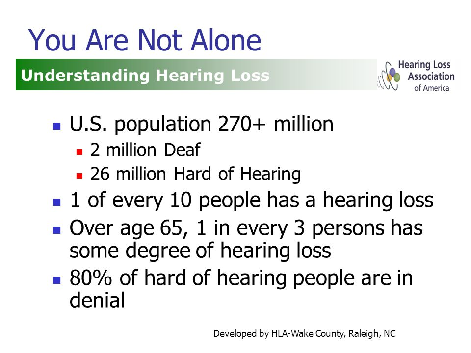 Developed by HLA-Wake County, Raleigh, NC You Are Not Alone U.S.