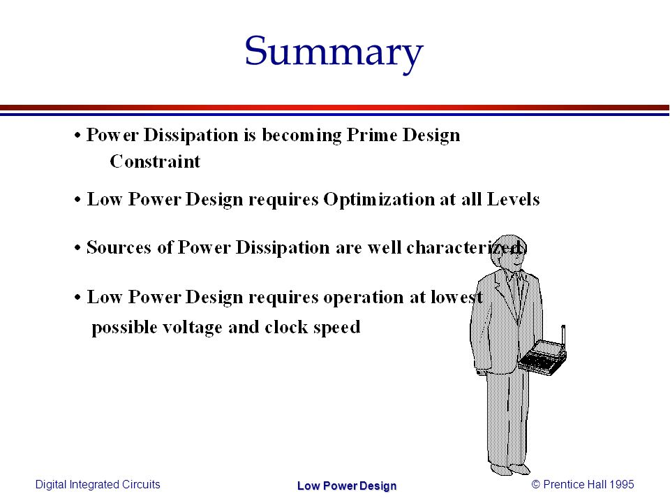 Digital Integrated Circuits© Prentice Hall 1995 Low Power Design Summary