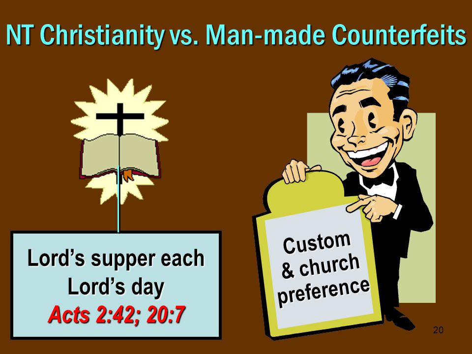 20 NT Christianity vs.