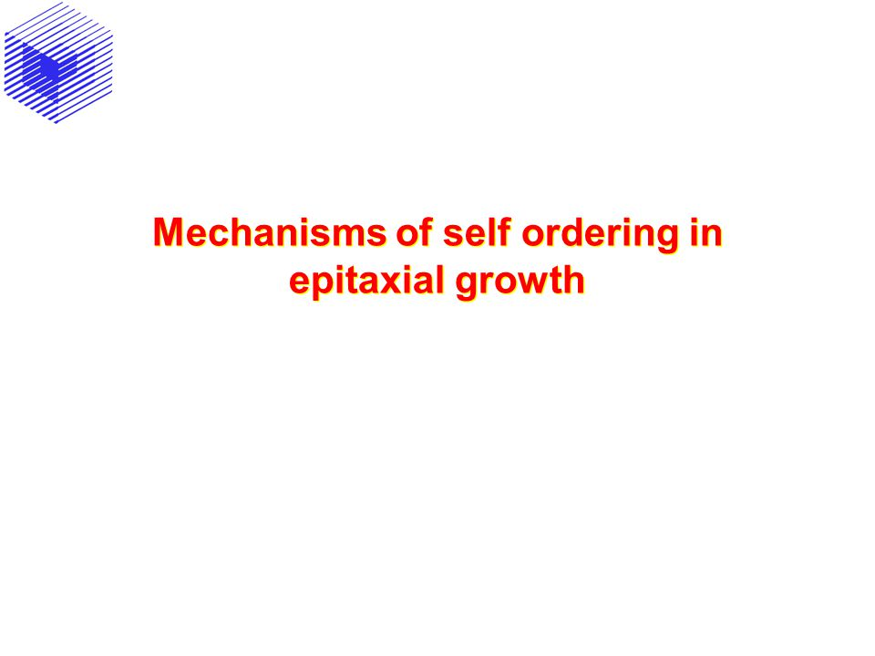 Mechanisms of self ordering in epitaxial growth