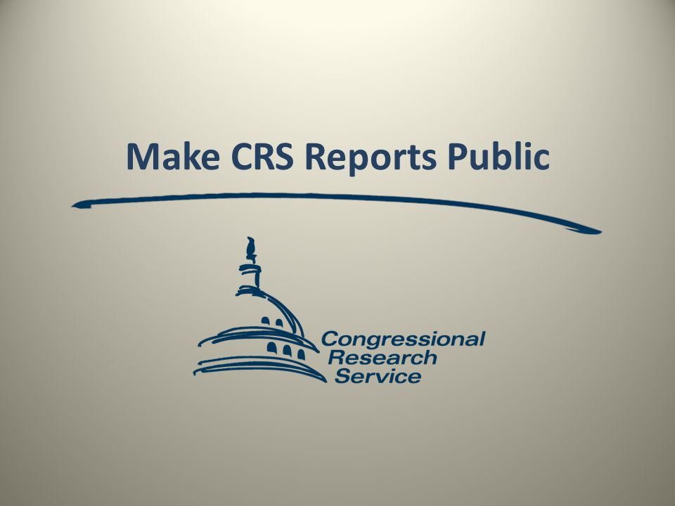 Make CRS Reports Public