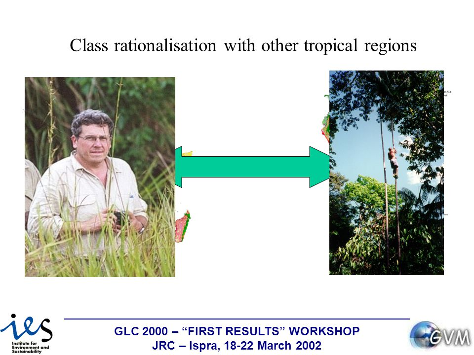 GLC 2000 – FIRST RESULTS WORKSHOP JRC – Ispra, 18-22 March 2002 Class rationalisation with other tropical regions