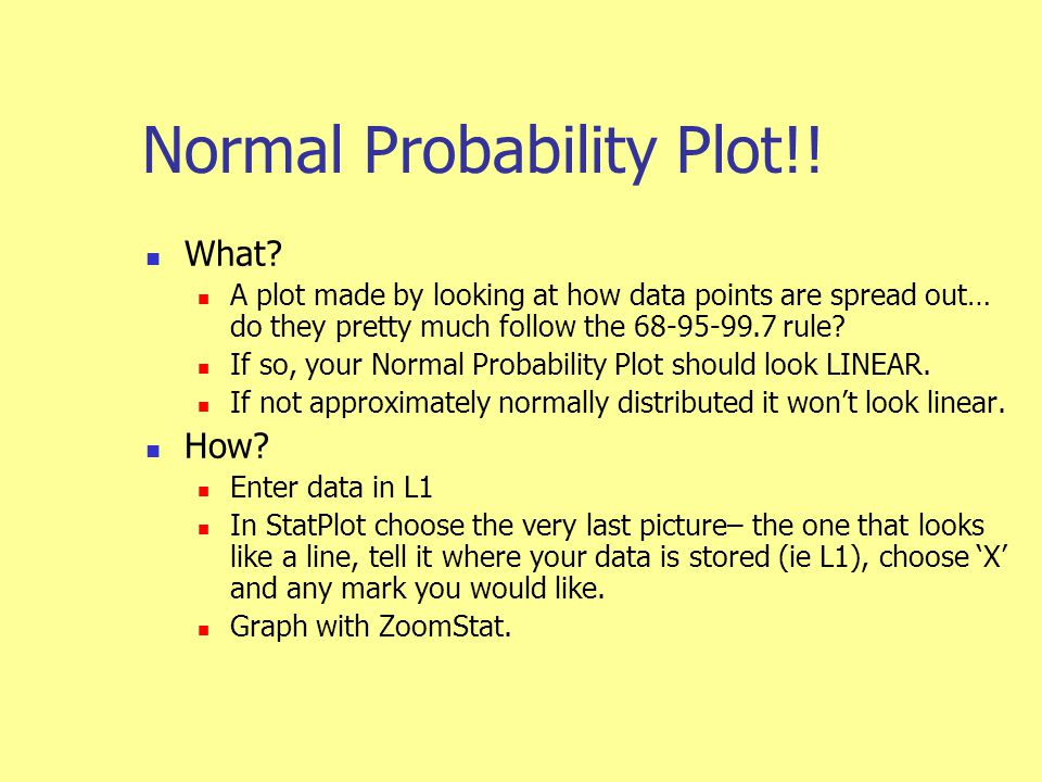 Normal Probability Plot!. What.
