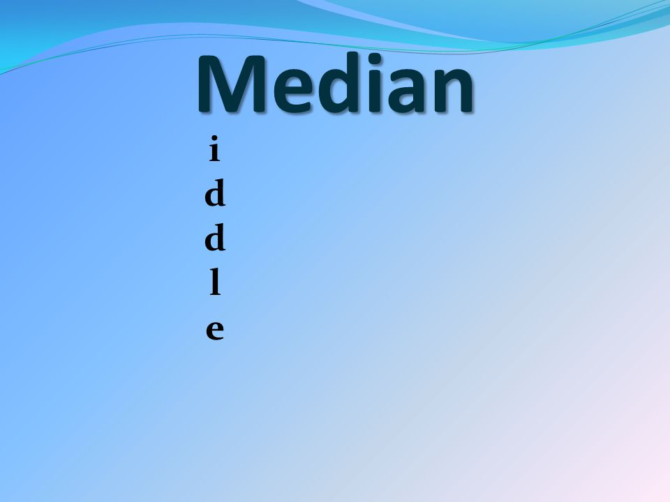 Median iddleiddle