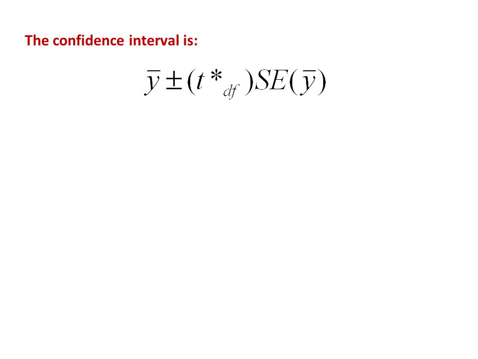 The confidence interval is: