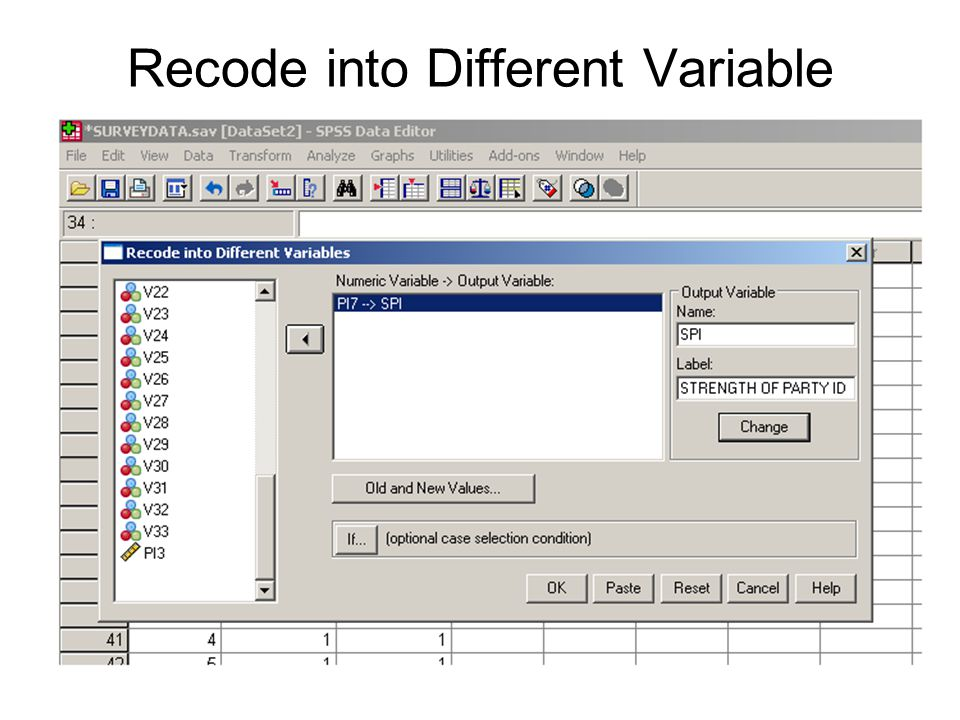 Recode into Different Variable