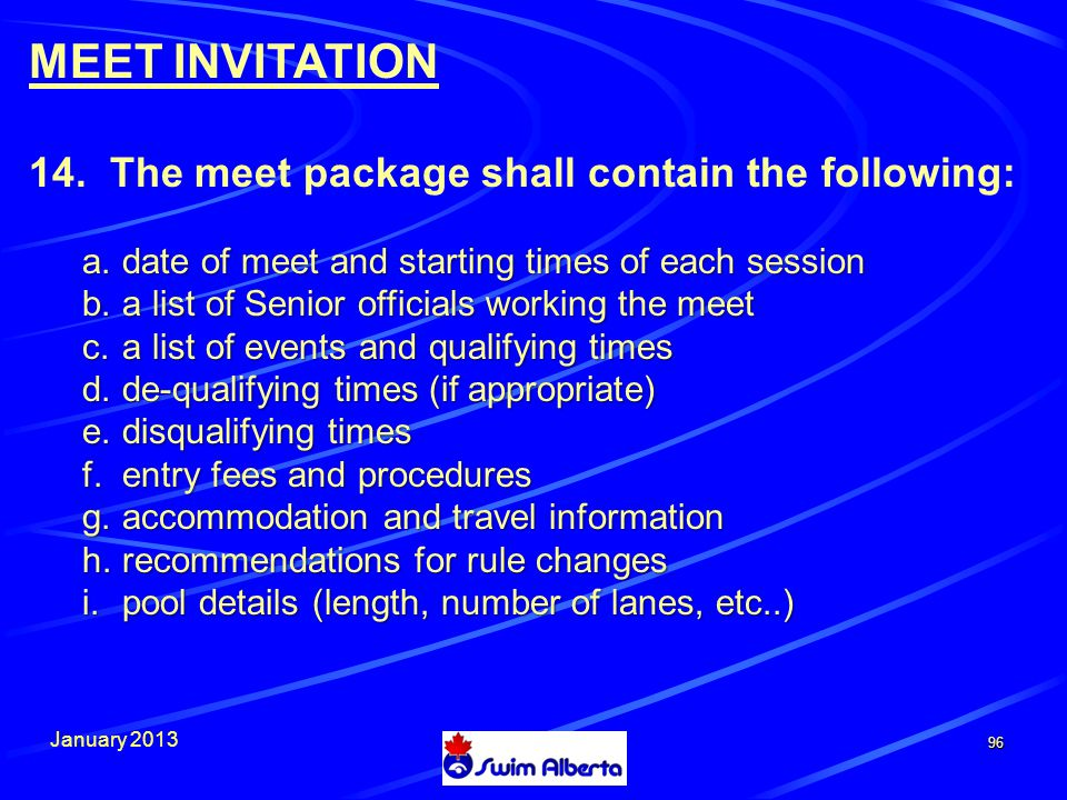 January 2013 96 MEET INVITATION 14.