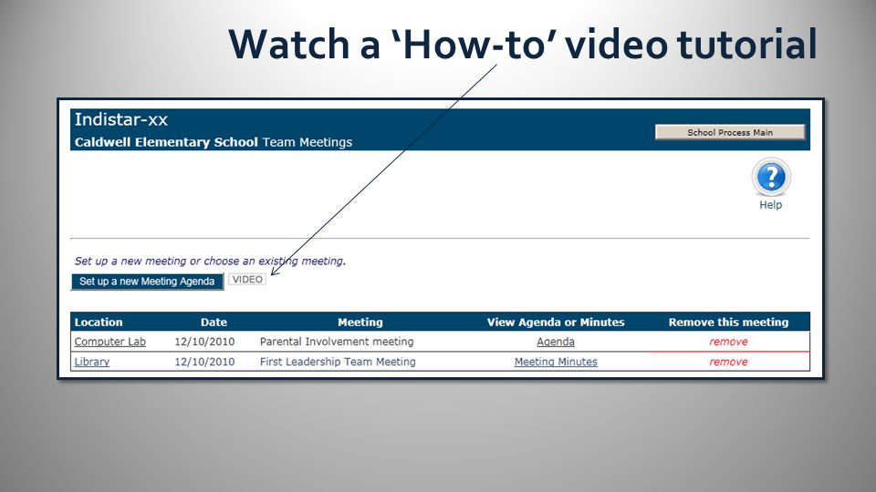Watch a 'How-to' video tutorial