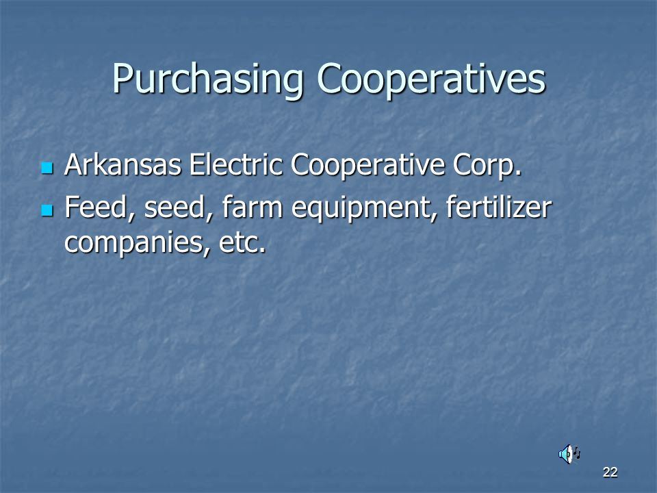 22 Purchasing Cooperatives Arkansas Electric Cooperative Corp.
