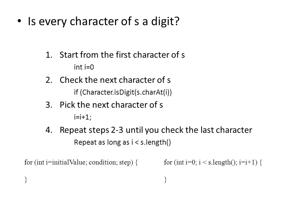 Is every character of s a digit.