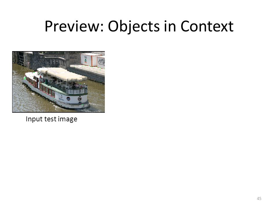 45 Preview: Objects in Context Input test image